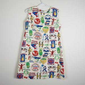 Funky 'ModCloth' Style Vintage Logo Dress L